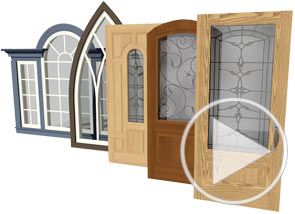 Several door and window styles