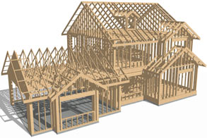 House framing overview