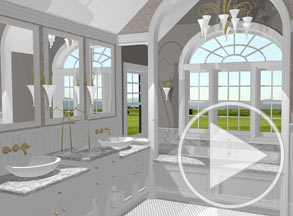 Elegant dual sink master bathroom