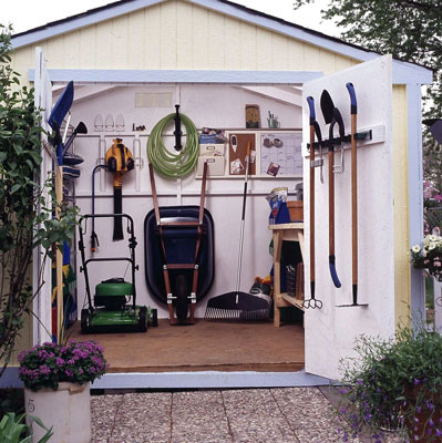 Free access how to build a garden tool shed from scratch for Garden shed door designs