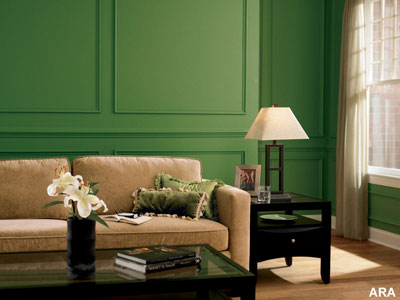 Interior Green Color Painting Ideas For Painting Walls