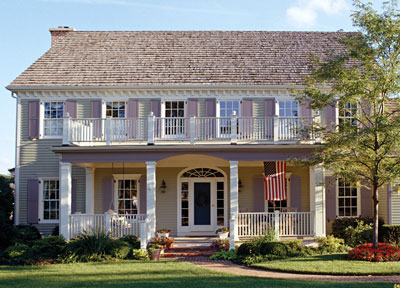 Exterior view of a plantation style house