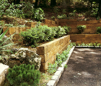 Gallery For Garden Wall Wood